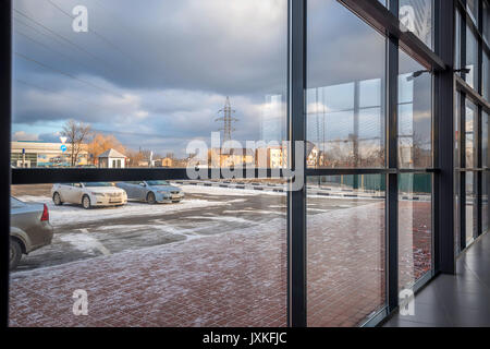 Modern building wall made of glass - Stock Photo