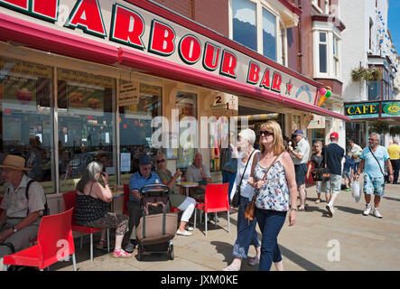 Harbour Bar shop store in summer Scarborough North Yorkshire England UK United Kingdom GB Great Britain - Stock Photo