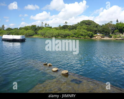 USS Arizona Memorial, Pearl Harbor - Stock Photo