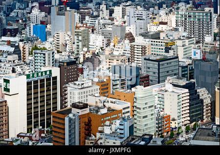Aerial View Tokyo Japan Buildings - Stock Photo