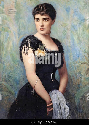 JENNIE CHURCHILL (1854-1921) Anglo-American wife of Lord Randolph Churchill and mother of Winston Churchill, about - Stock Photo