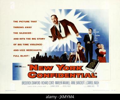 NEW YORK CONFIDENTIAL 1955 Warner Bros film - Stock Photo