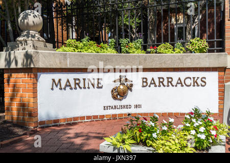 U.S. Marine Barracks, Barracks Row, Washington, D.C., U.S.A. - Stock Photo