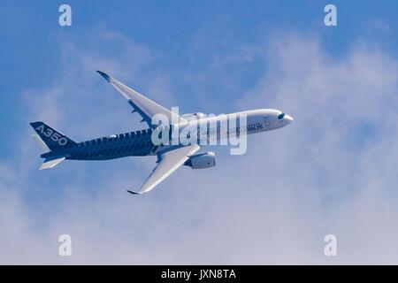 Airbus A350-900 at Airshow China 2016 - Stock Photo