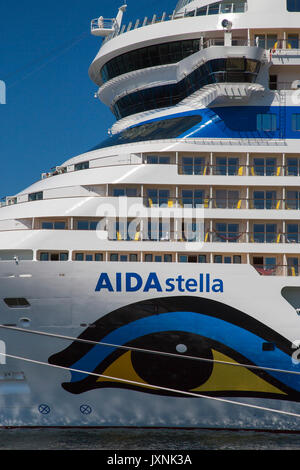 Cruise Ship AIDA stella at Bergen is a city and municipality in Hordaland, South West Norway - Stock Photo