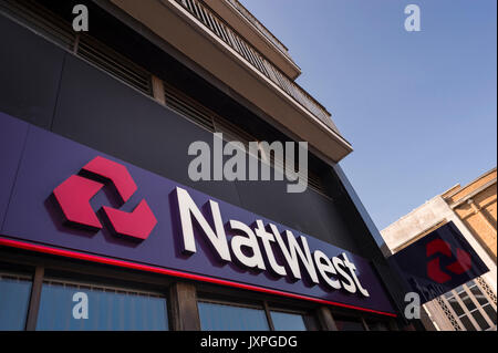 Exterior of a Nat West Bank in Southsea, Hampshire, UK - Stock Photo