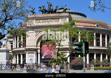 Palermo Politeama Theatre - Stock Photo