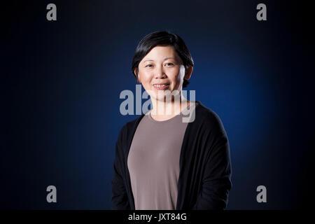 Edinburgh, UK. 17th August 2017. Yiyun Li, the Chinese American writer, appearing at the Edinburgh International - Stock Photo