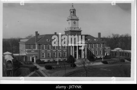 Gilman Hall Exterior, Front View, Facing along Upper Quadrangle, 1932. - Stock Photo