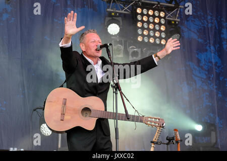 Gerry Colvin performing with The Gerry Colvin Band at Cropredy Festival, Banbury, Oxfordshire, England, August 11, - Stock Photo