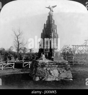 Denkmal für gefallene deutsche Soldaten des Reserve Jäger Bataillon Nr. 3 bei Fort Douaumont, angefertigt aus nicht - Stock Photo