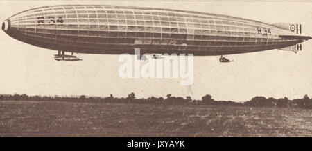 1919 tR34 AIRSHIP  that was first  to cross the Atlantic) - Stock Photo