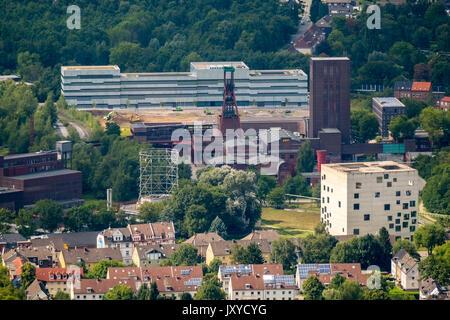 Folkwang University of the Arts - SANAA building, Zollverein cube area World Heritage PACT Zollverein, art shaft - Stock Photo