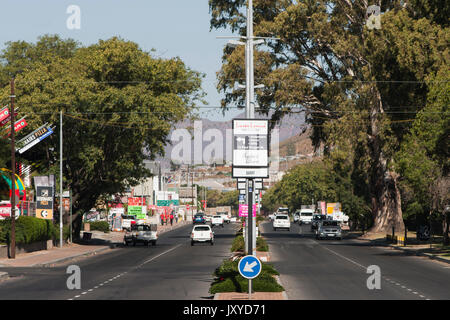 Robertson main road, Western Cape, South Africa. - Stock Photo