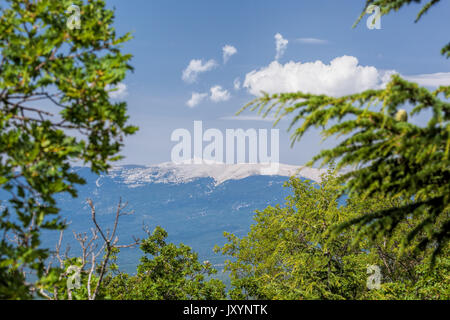 View of Mont Ventoux in Provence, France - Stock Photo