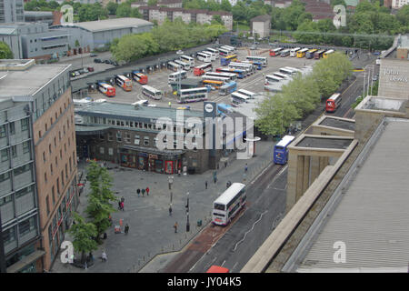 Buchanan bus station Glasgow viewed from above - Stock Photo
