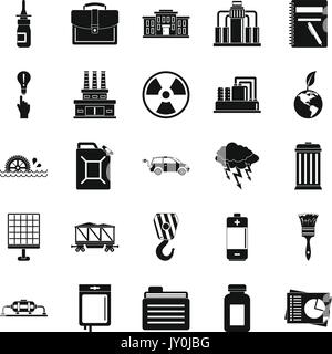Outgoings icons set, simple style - Stock Photo