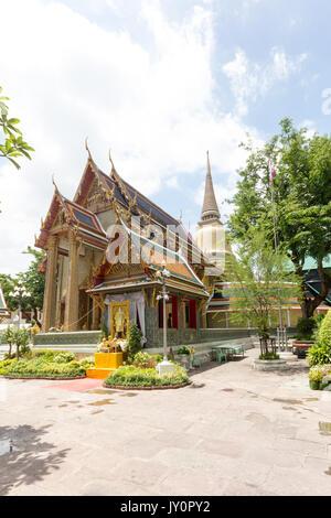 Wat Ratchapradit Sathitmahasimaram, Bangkok, Thailand - Stock Photo