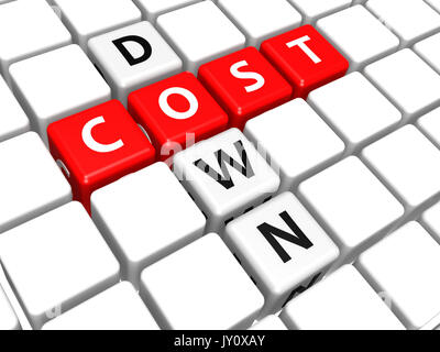 Cost down image with hi-res rendered artwork that could be used for any graphic design. - Stock Photo