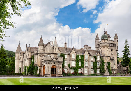Balmoral Castle, Scottish residence of the Royal Family, Crathie, Royal Deeside, Aberdeenshire, Scotland, UK - Stock Photo