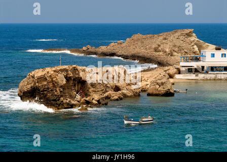 Greece, Aegean Islands, Karpathos island, Lefkos village and harbor - Stock Photo