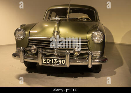 A 1948 Hudson Commodore 8 at the Louwman Museum, The Hague, Netherlands - Stock Photo