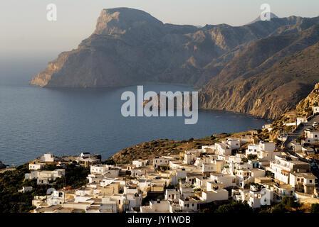 Greece, Aegean Islands, Karpathos island, Mesohori village - Stock Photo