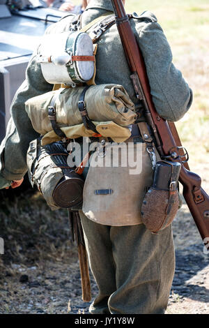 Outfit of a German soldier - Stock Photo