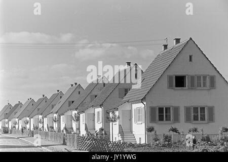 Row of identical suburban houses. - Stock Photo