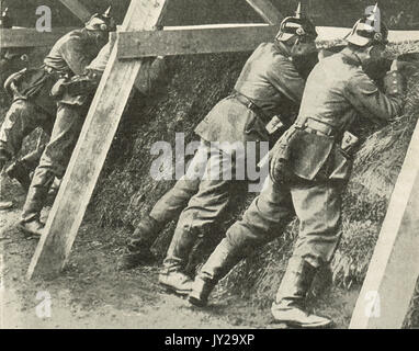German soldiers on the Russian front, WW1 - Stock Photo