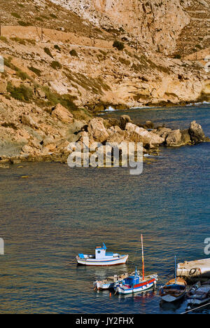 Greece, Aegean Islands, Karpathos island, Finiki harbor - Stock Photo