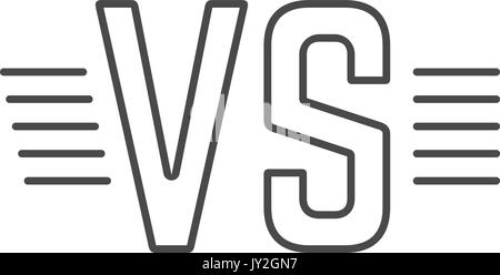 grey outline versus sign like opposition - Stock Photo