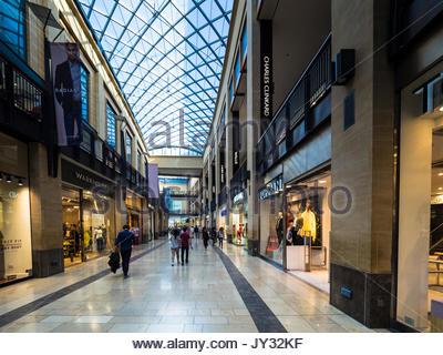 Grand Arcade Cambridge - interior of the Grand Arcade Shopping Centre in Cambridge UK - Stock Photo