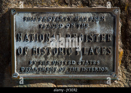 National Register of Historic Places plaque, Benton County Museum, Philomath, Oregon - Stock Photo