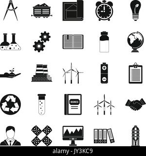 Expenses icons set, simple style - Stock Photo