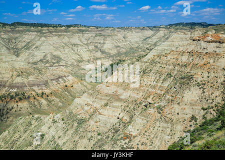 badlands in the upper missouri river breaks national monument near winifred, montana - Stock Photo