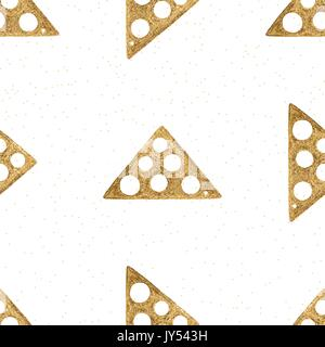 Vector gold hand drawn ethnic tribal element isolated on white background. Golden seamless pattern. - Stock Photo
