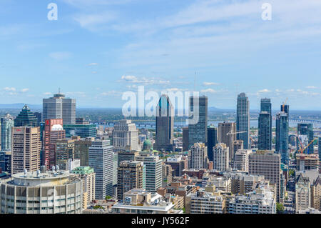 Montreal, Canada - August 16, 2017: Montreal Skyline in summer, Canada - Stock Photo