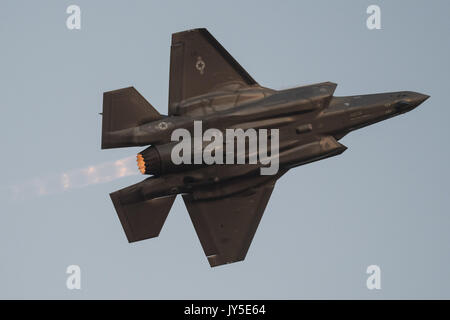 Abbotsford, British Columbia, Canada. 11th Aug, 2017. A United States Air Force (USAF) Lockheed Martin F-35A Lightning - Stock Photo