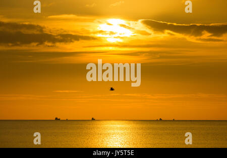 Seaton Carew, county Durham, England, UK. 19th Aug, 2017. UK. Weather: A glorious Saturday morning on the north - Stock Photo