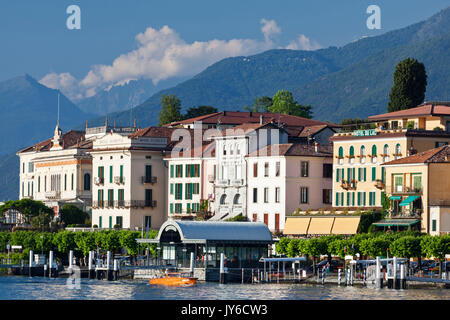 View of Bellagio waterfront on Lake Como, Lombardy, Italy. - Stock Photo