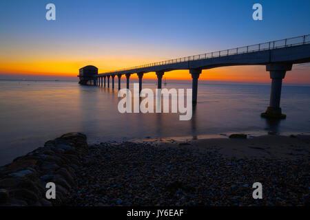 Royal Lifeboat Institutuion Station RNLI Bembridge Sunrise Isle of Wight England UK - Stock Photo