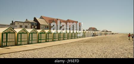 Cabines de plage Cayeux-sur-Mer - Stock Photo