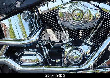Detail of Harley Davidson motor cycle - Stock Photo