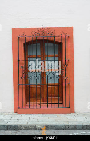 Typical window from Oaxaca, Mexico. This how all windows in Oaxaca city looks like. - Stock Photo