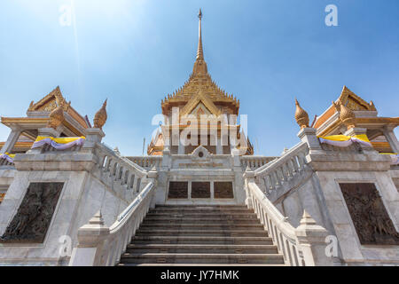 Temple of the Golden Buddha or Wat Traimit in Chinatown, Bangkok, Thailand - Stock Photo