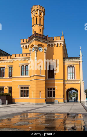 Building of the Main Railway Station of Wroclaw, Poland. - Stock Photo