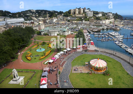 View of the harbourside and marina at Torquay, Devon, UK - Stock Photo