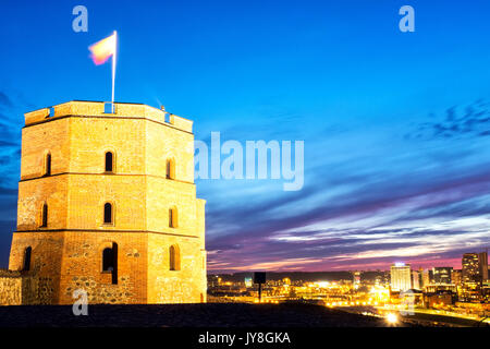Gediminas Tower, Vilnius, Lithuania - Stock Photo