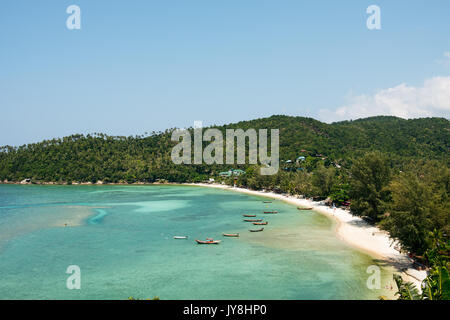 Ko Pha Ngan, Thailand - March 14, 2017. The view of the beautiful Ko Pha Ngan island, which is part of the Samui - Stock Photo